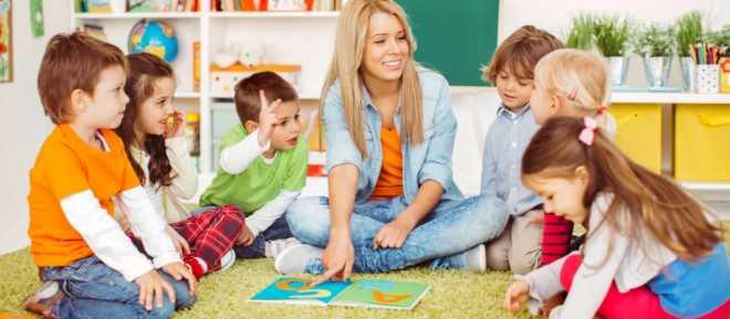 Дети в детский сад с радостью