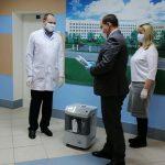 Городская больница получила в подарок мобильные кислородные концентраторы